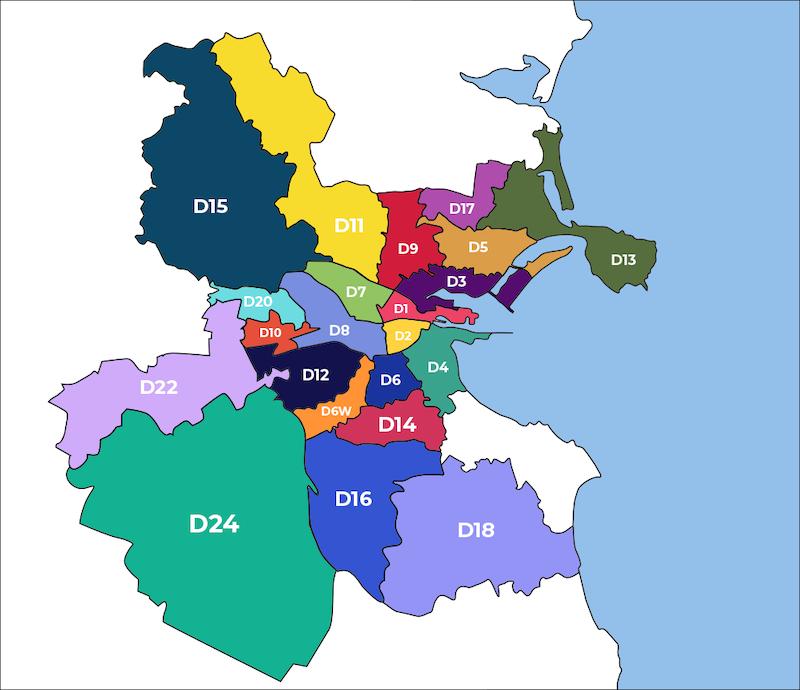 Onde ficar em Dublin: mapa dos distritos