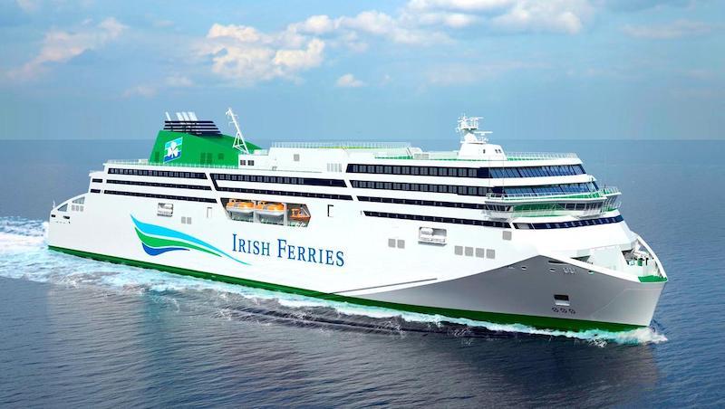 Ferry Irish Ferries na Irlanda