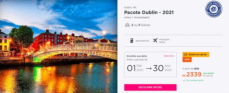 Pacote Hurb para Dublin por R$ 2339