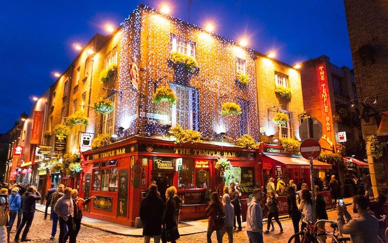 Temple Bar no Natal - Dublin