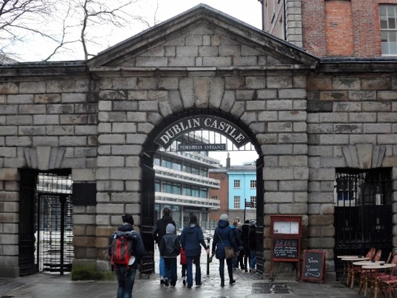 Entrada ao Castelo de Dublin