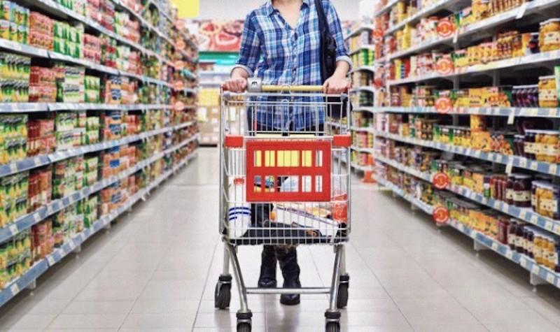 Compra no supermercado em Dublin
